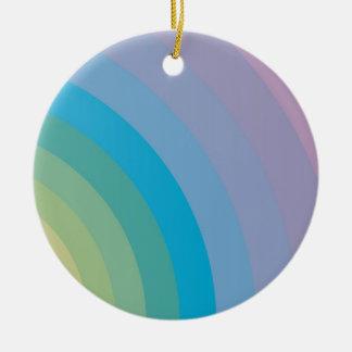 Fashion Background Round Ceramic Ornament