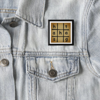 fashion badge by DAL 2 Inch Square Button
