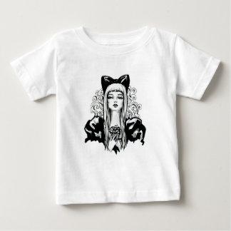 Fashion beautiful blond girl vintage illustration baby T-Shirt