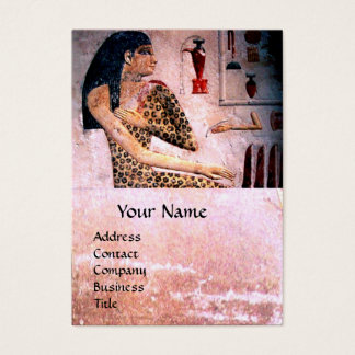 FASHION & BEAUTY OF ANTIQUE EGYPT MONOGRAM,pink Business Card