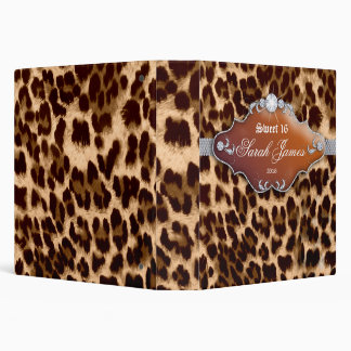 Fashion Binder Tanning Leopard Sweet 16 Brown