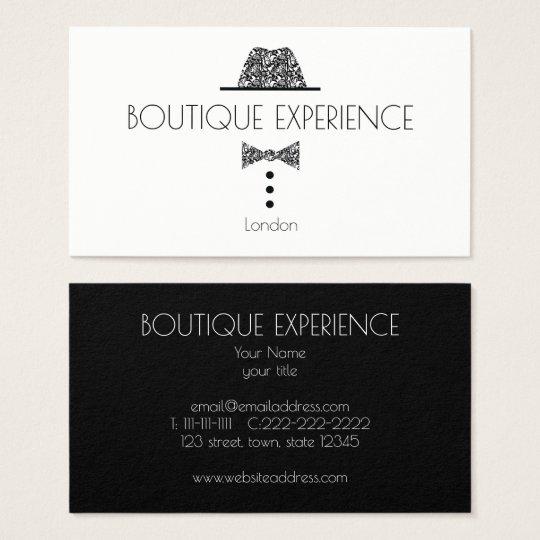Fashion Black Elegant Minimal Boutique Retro Chic Business Card