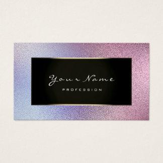 Fashion Blogger Champagne Gold Viola Glass Purple Business Card