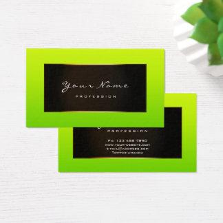 Fashion Blogger Framed Black Frame Bamboo Green Business Card