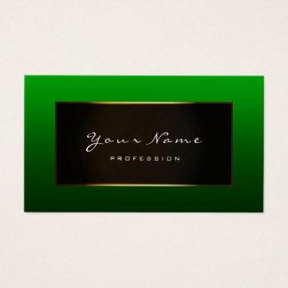 Fashion Blogger Framed Black Frame Moss Deep Green Business Card
