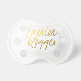 Fashion Blogger - Gold Script Pacifiers