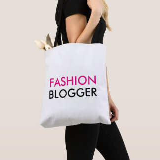 Fashion Blogger Pink and White Tote Bag