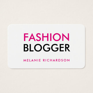 Fashion Blogger Rounded Edges Business Card
