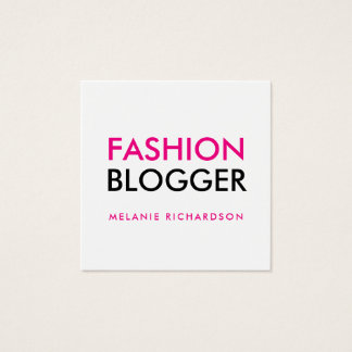 Fashion Blogger Square Business Card