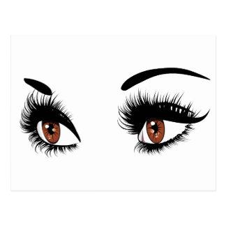 Fashion Brown Eyes Postcard