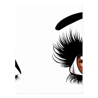 Fashion Brown Eyes Postcard