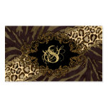 Fashion Business Cards Animal Zebra Suede Leopard