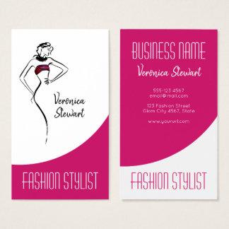 Fashion Business Woman Illustration Business Card