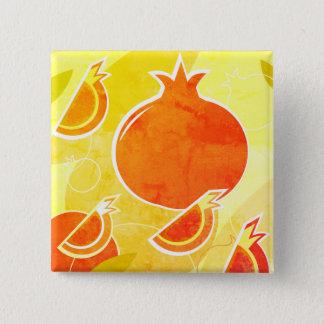 Fashion button with pomegranate