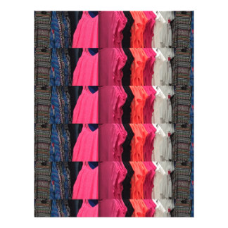 Fashion Colorful pattern print template add text Letterhead