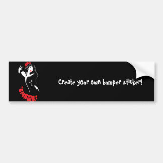 Fashion dancer stylish trendy illustration bumper sticker