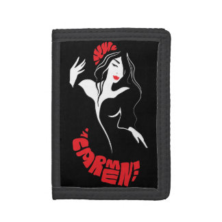 Fashion dancer stylish trendy illustration trifold wallet