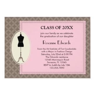 Fashion Design Graduation Invitation