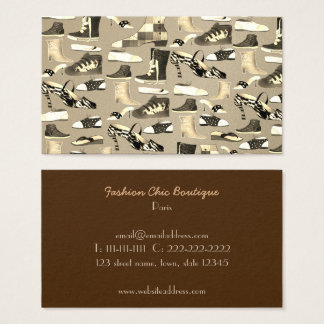 Fashion Designer Artist Stylist Boutique Vintage Business Card
