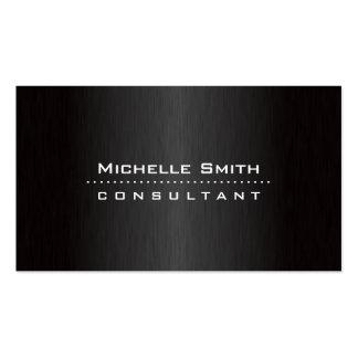 Fashion Designer Elegant Professional Modern Black Business Card