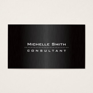 Fashion Designer Elegant Professional Modern Black Business Card