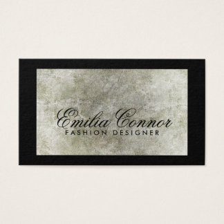 Fashion Designer Grey Stone Black Border Card
