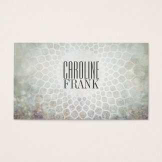 Fashion Designer Grey Tones Mandala Business Card