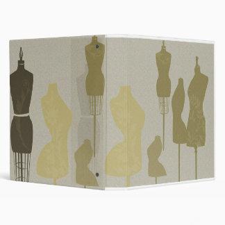 Fashion Designer Mannequin Chic Vinyl Binders