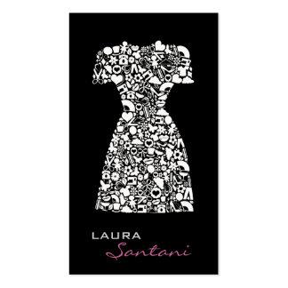 Fashion Designer Modern Black Business Cards