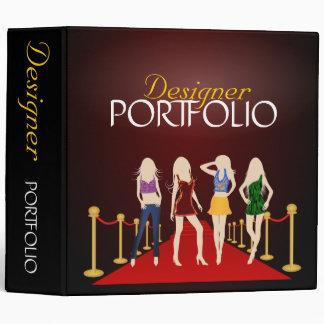 Fashion Designer Stylist Portfolio Custom Binder