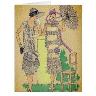 Fashion Flapper Sunday Afternoon Tea Card