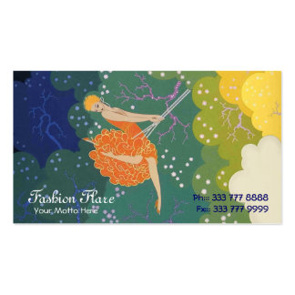Fashion Flare Swing Girl Business Cards