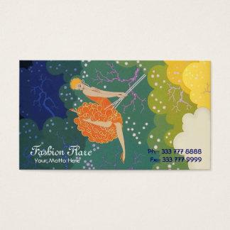 Fashion Flare Swing Girl Business Card