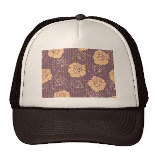 Fashion floral rose pattern mesh hats