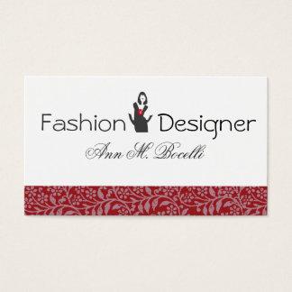 Fashion Flourished Model Fashion Consultant Business Card