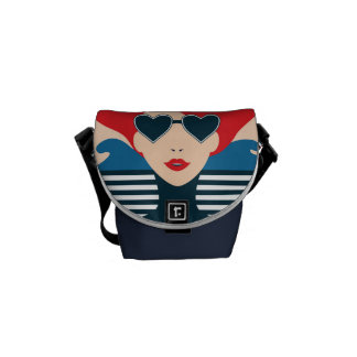 Fashion french stylish fashion chic illustration messenger bag