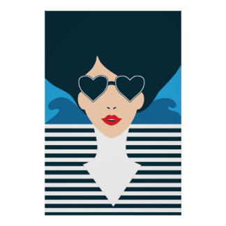 Fashion french stylish fashion chic illustration poster