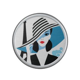 Fashion french stylish fashion chic illustration speaker