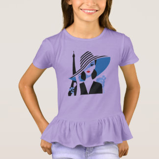 Fashion french stylish fashion chic illustration T-Shirt