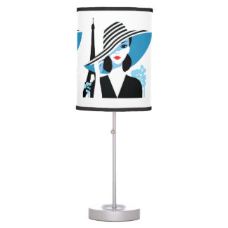 Fashion french stylish fashion chic illustration table lamp