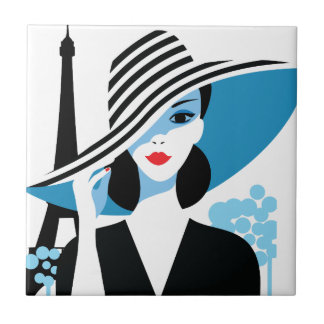 Fashion french stylish fashion chic illustration tiles