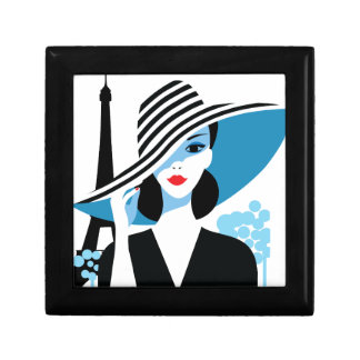 Fashion french stylish fashion chic illustration trinket box