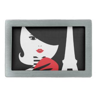 Fashion french stylish fashion illustration belt buckle