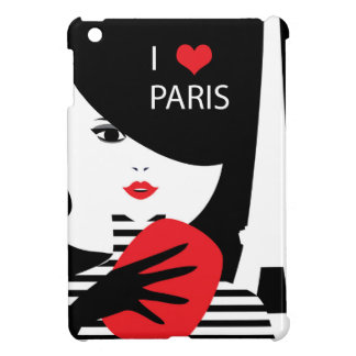 Fashion french stylish fashion illustration iPad mini cover