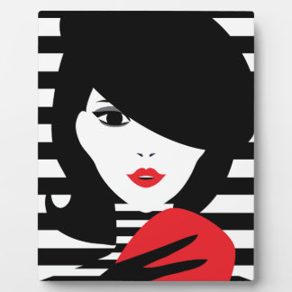 Fashion french stylish fashion illustration plaque