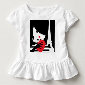Fashion french stylish fashion illustration toddler t-shirt