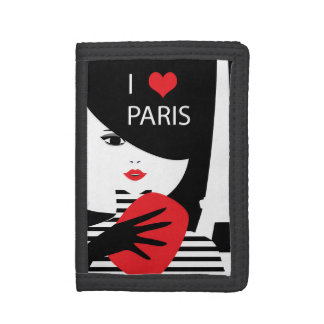 Fashion french stylish fashion illustration tri-fold wallet