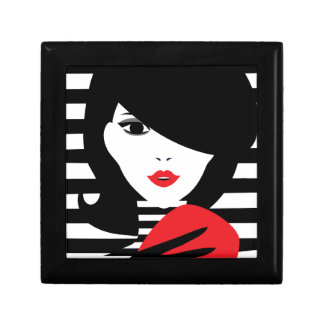 Fashion french stylish fashion illustration trinket box
