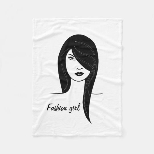Fashion girl fleece blanket
