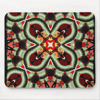 Fashion Girl Funky Collage Mousepads